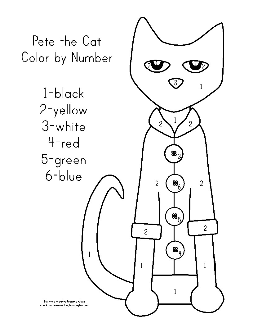 816x1056 Coloring Page For Pete The Cat And His Four Groovy Buttons Best