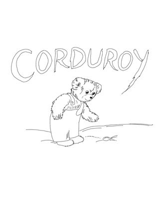 323x430 Corduroy Is Looking For Button Coloring Page Things To Paint