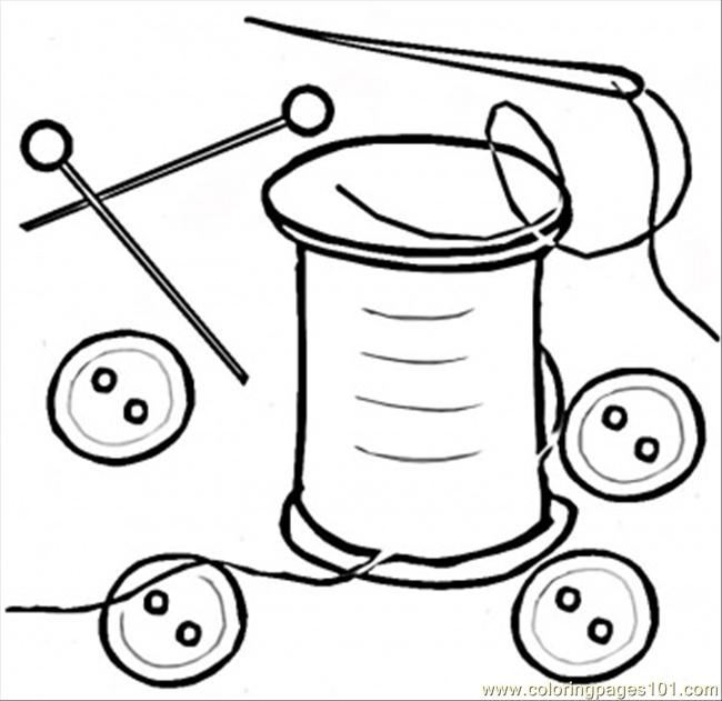 650x631 Buttons Coloring Page