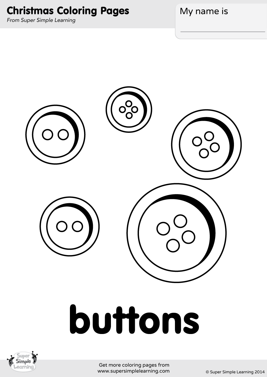 905x1280 Buttons Coloring Page Super Simple