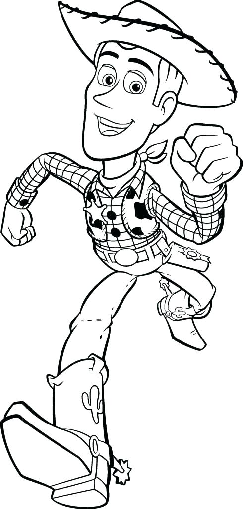 490x1024 Woody Coloring Page Toy Story Woody Coloring Pages Buzz Woody
