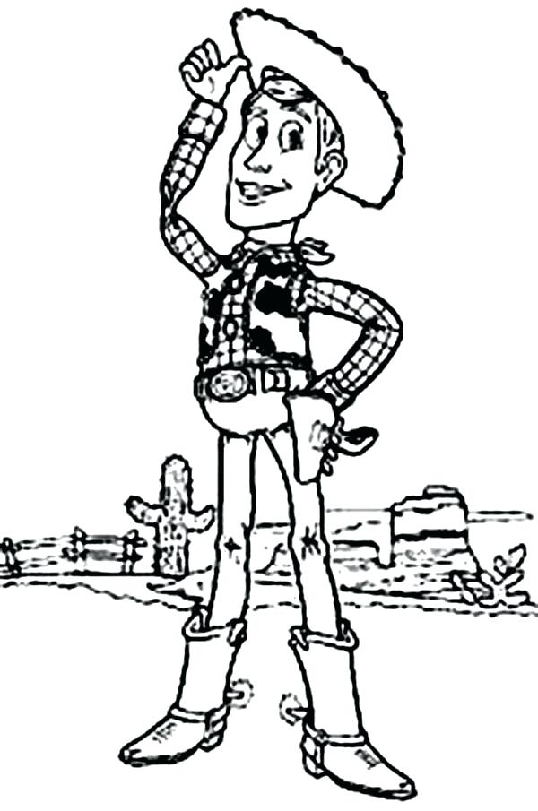 600x905 Woody Coloring Page Cowboy Woody Coloring Pages Woody Buzz