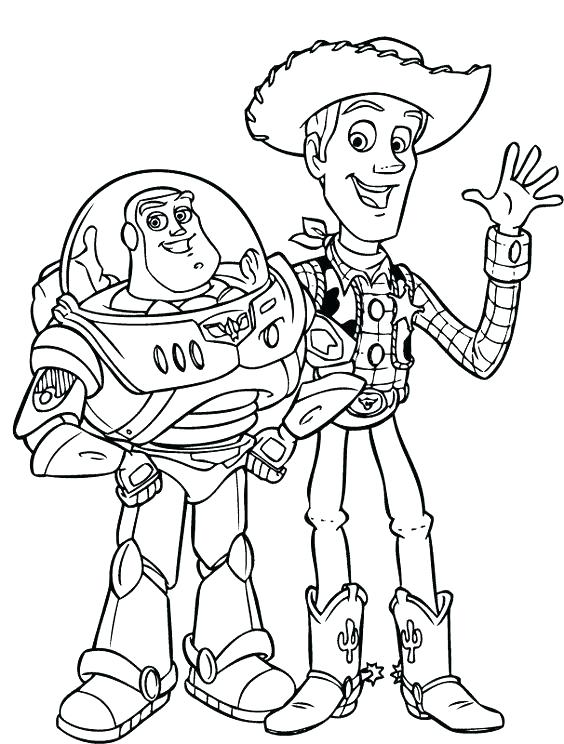 564x744 Buzz Lightyear Coloring Pages Plus Woody And Buzz Coloring Pages