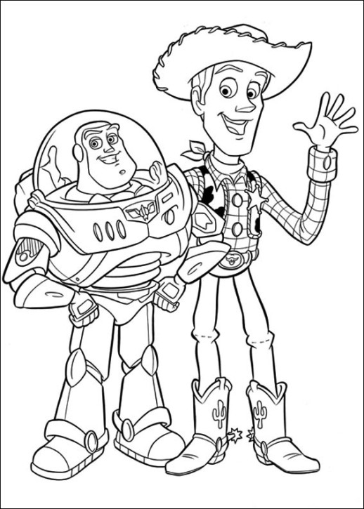 518x725 Disney Toy Story Woody And Buzz Coloring Page Crayola Com