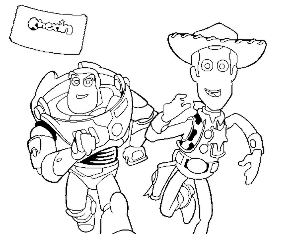 1048x821 Promising Buzz Lightyear Coloring Pages Online Page And Woody