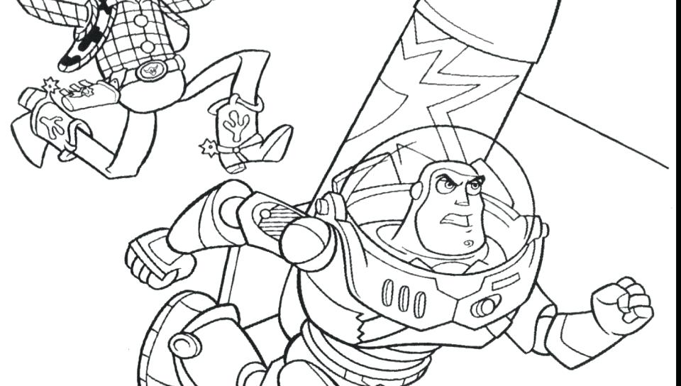 960x544 Sheriff Woody Happy With Horse Toy Story Coloring Pages Flying