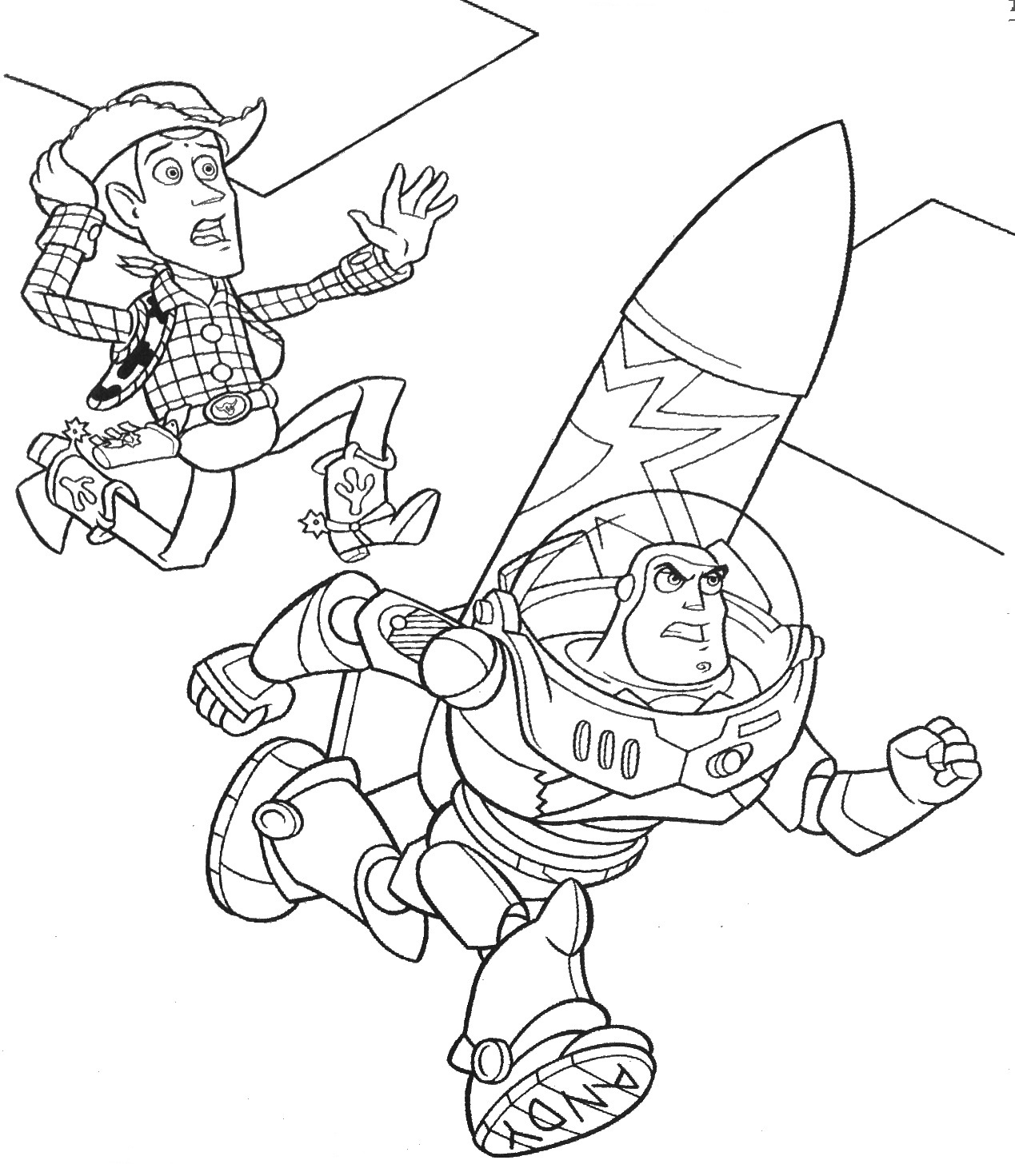 Buzz Lightyear And Woody Coloring Pages At Getdrawings Com Free