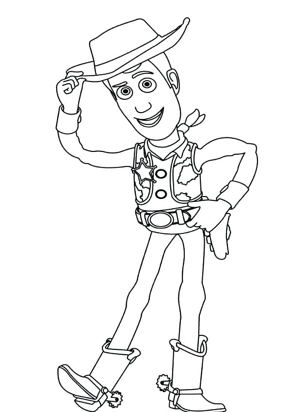 600x849 Woody And Buzz Coloring Pages