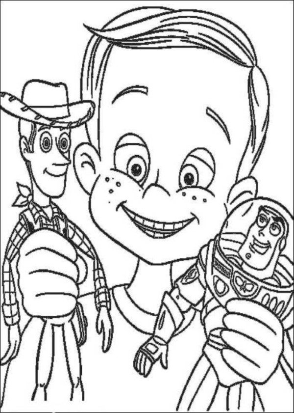600x841 Buzz Lightyear And Woody Sheriff Toy Story Coloring Pages
