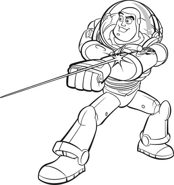 600x636 Buzz Lightyear Coloring Pages Online
