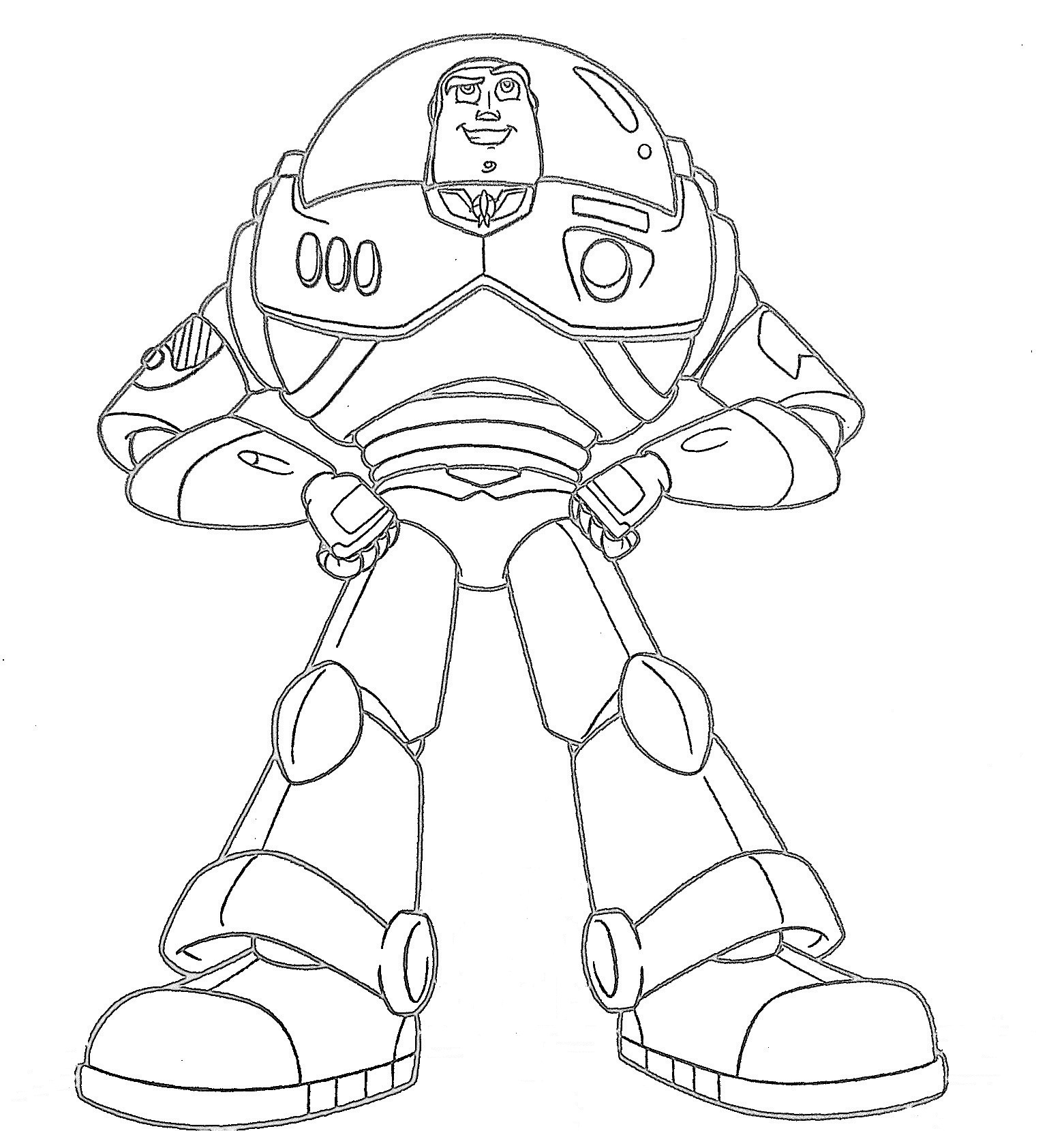 1561x1659 Buzz Lightyear Coloring Pages