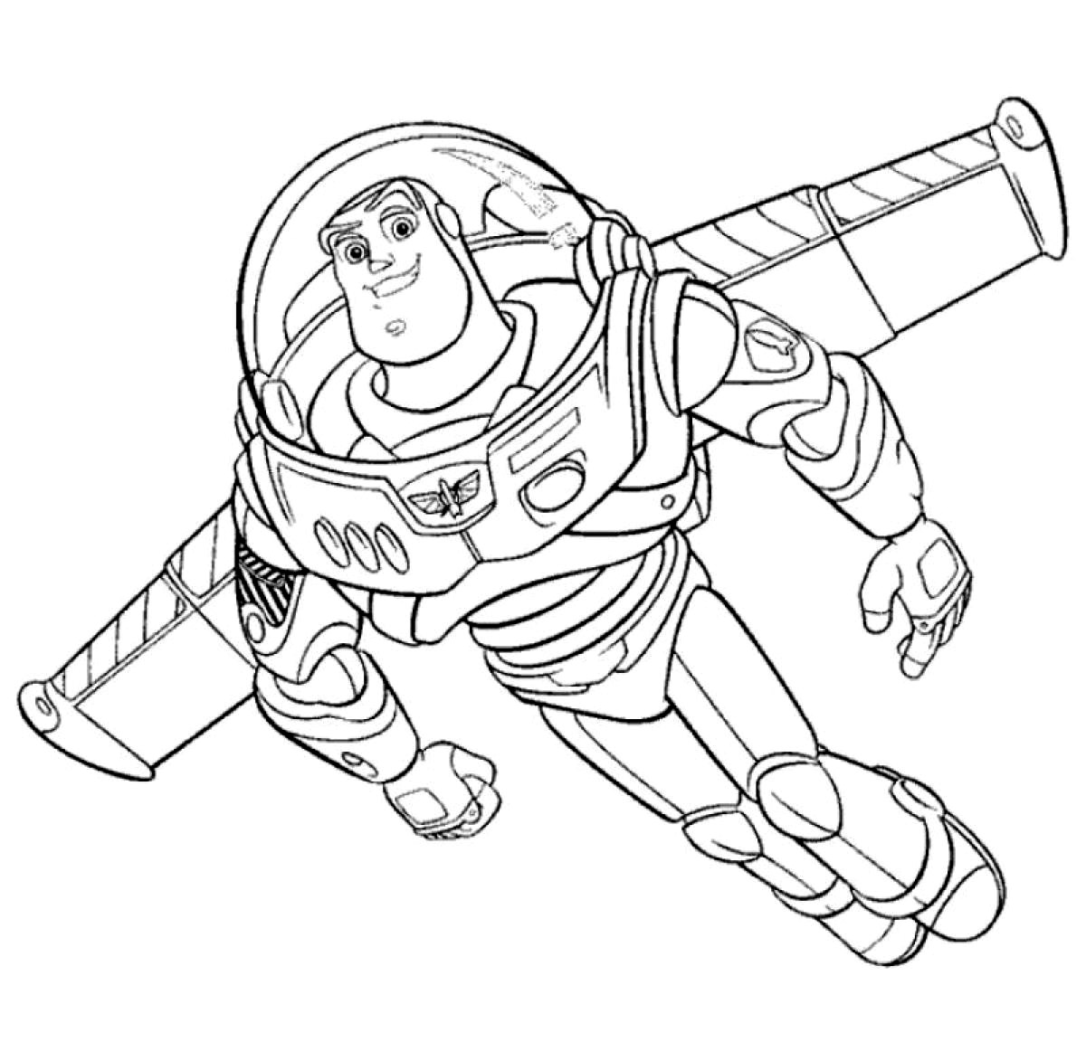 1200x1173 Buzz Lightyear Hero Free Coloring Page Disney, Kids, Toy Story
