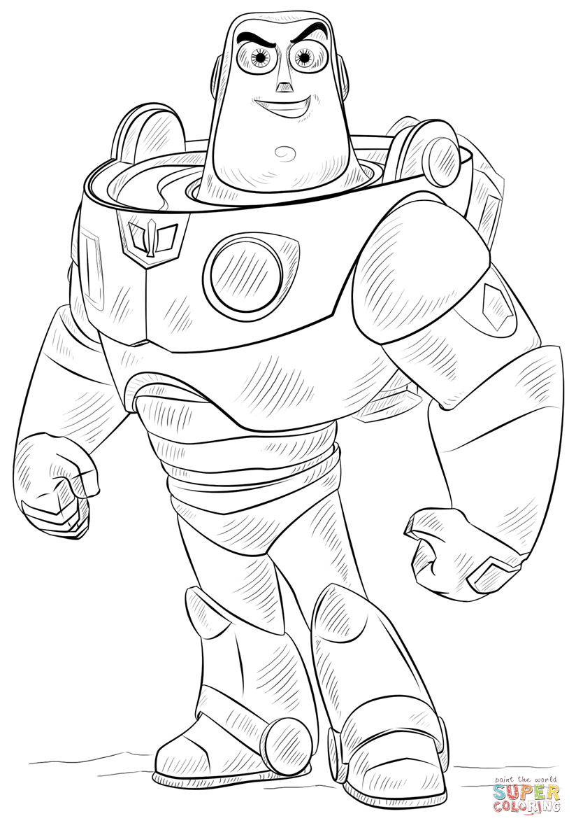 824x1186 Awesome Buzz Lightyear Coloring Page About Buzz Lightyear Coloring