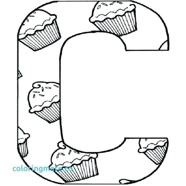 600x602 The Letter C Coloring Pages Printable Letter Coloring Pages