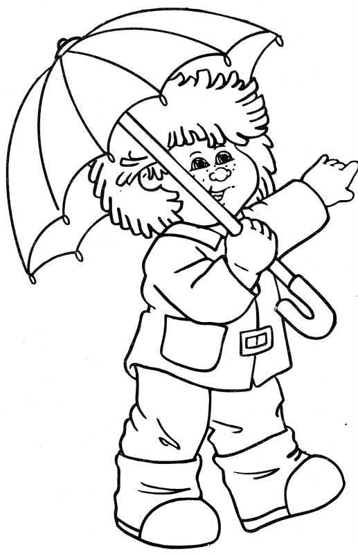 517x800 Cabbage Patch Kids Wearing Umbrella Cabbage Patch Kids Coloring