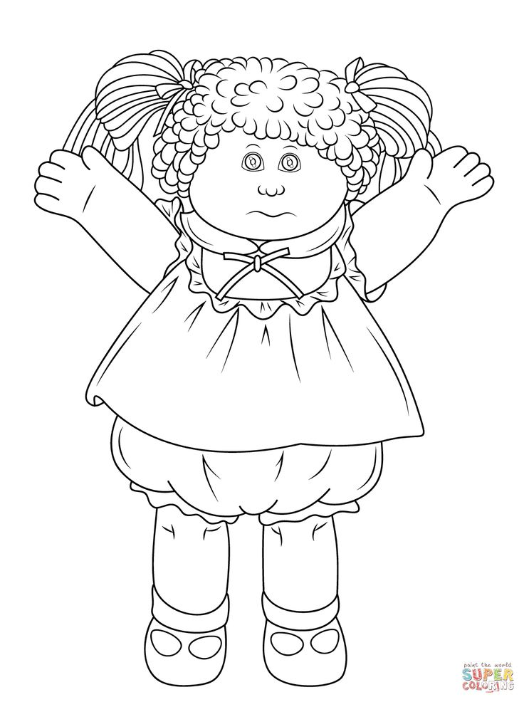 736x986 Best Colouring Cabbage Patch Images On Cabbage