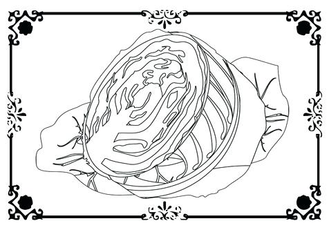 476x333 Lettuce Coloring Page Downloads Lettuce Cabbage Coloring Page