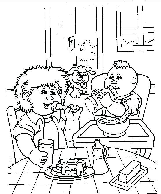 556x668 Cabbage Patch Coloring Pages