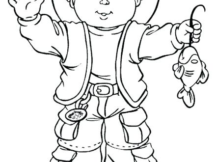 440x330 Cabbage Patch Kids Coloring Pages Cabbage Coloring Page Cool