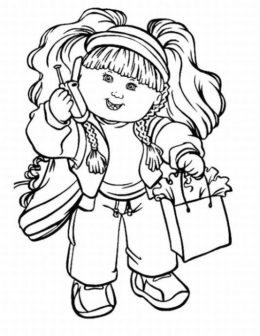 Cabbage Patch Coloring Pages
