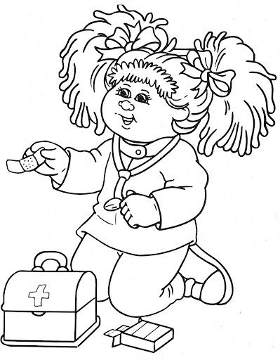 399x512 Cabbage Patch Kids Become A Doctor Cabbage Patch Kids Coloring