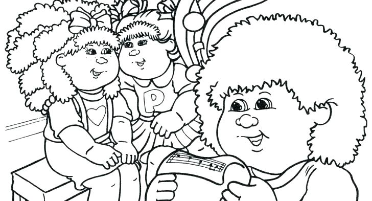 728x393 Cabbage Patch Kids Coloring Pages Cabbage Patch Kids Cabbage Patch
