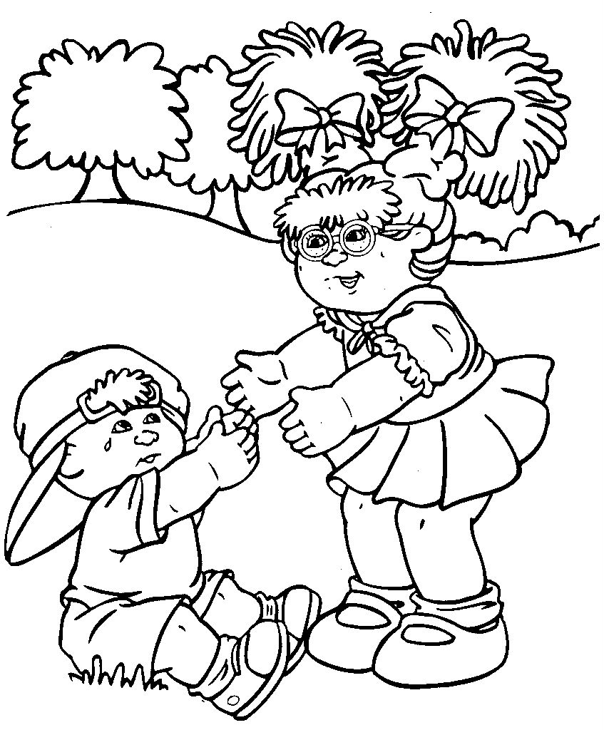 847x1024 Cabbage Patch Kids Coloring Pages Collection Coloring For Kids