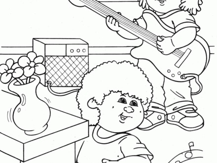 440x330 Cabbage Patch Kids Coloring Pages, Cabbage Patch Kids Coloring