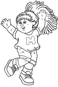 236x351 Cabbage Patch Kids Pose Cabbage Patch Kids Coloring Pages