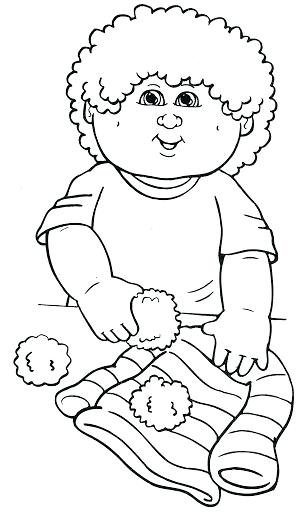 300x512 New Cabbage Patch Kids Coloring Pages And X Valentines Day