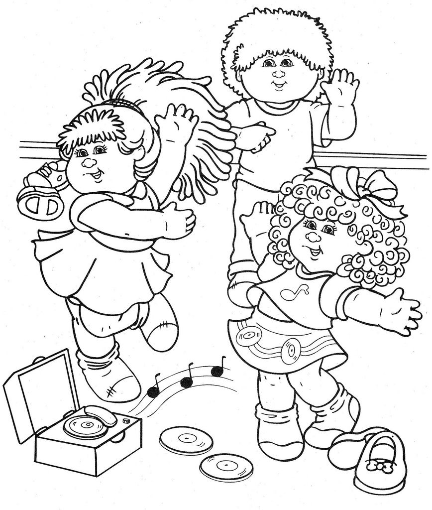 868x1024 Cabbage Patch Kids Coloring Pages Cabbage Patch Kids Baby