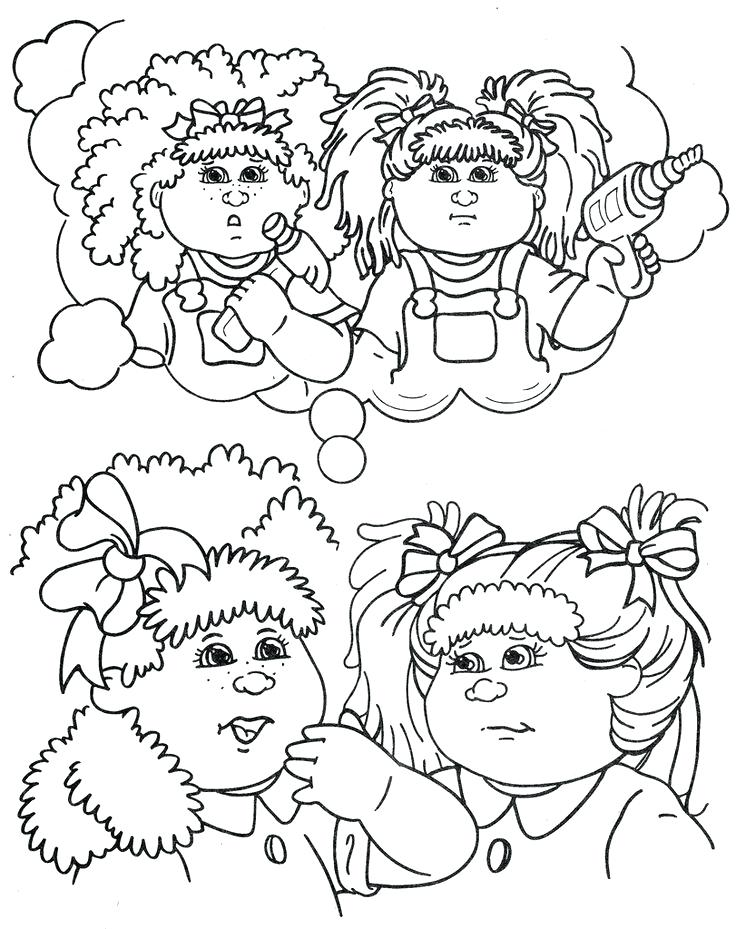 736x929 Cabbage Patch Coloring Pages Cabbage Patch Coloring Pages Cabbage