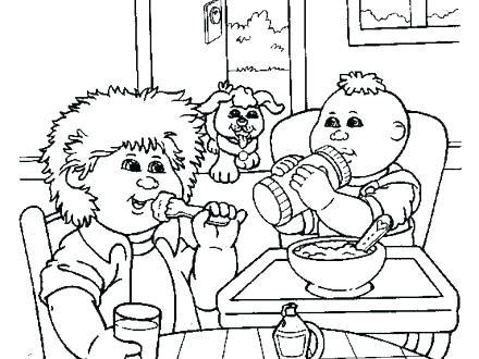 440x330 Cabbage Patch Coloring Pages Cabbage Patch Kids Coloring Pages