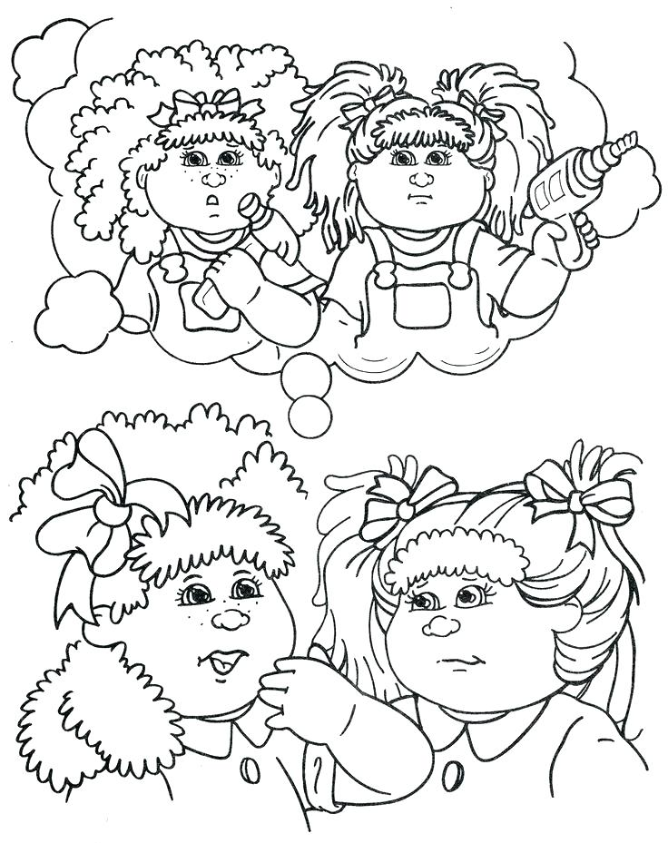 graphic regarding Cabbage Patch Logo Printable referred to as Cabbage Patch Little ones Coloring Internet pages at  Free of charge