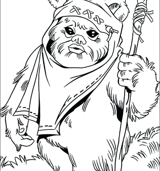 564x600 Ewok Coloring Pages Click To See Printable Version Of Cad Bane