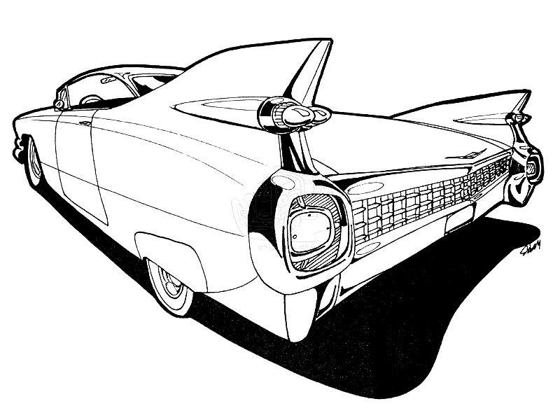 800x600 Cadillac Drawing Embroidery Cadillac
