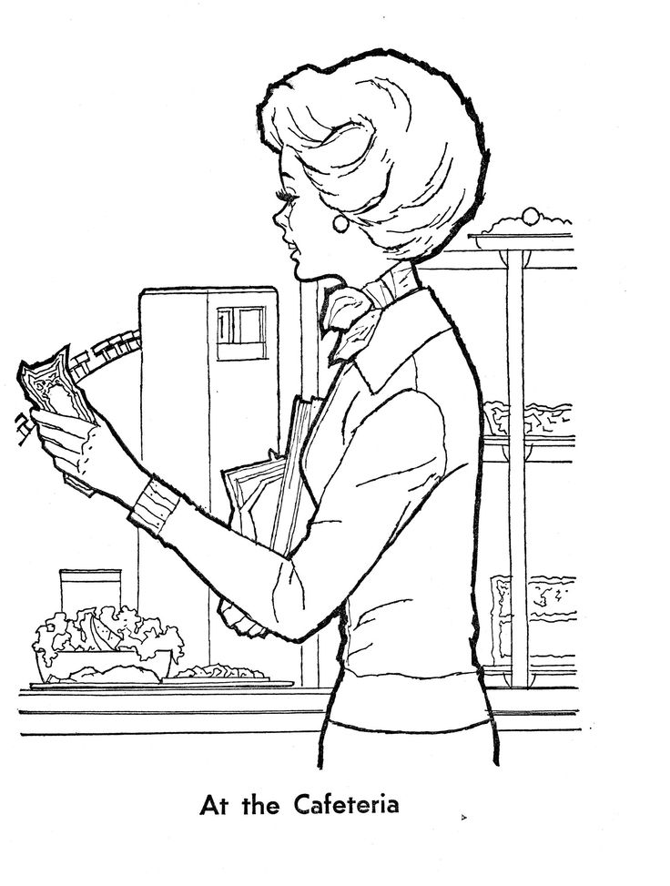 Cafeteria Coloring Pages