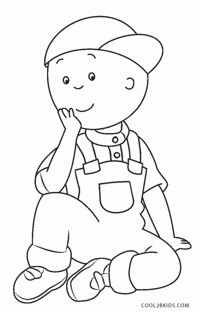 657x1024 Caillou Coloring Pages