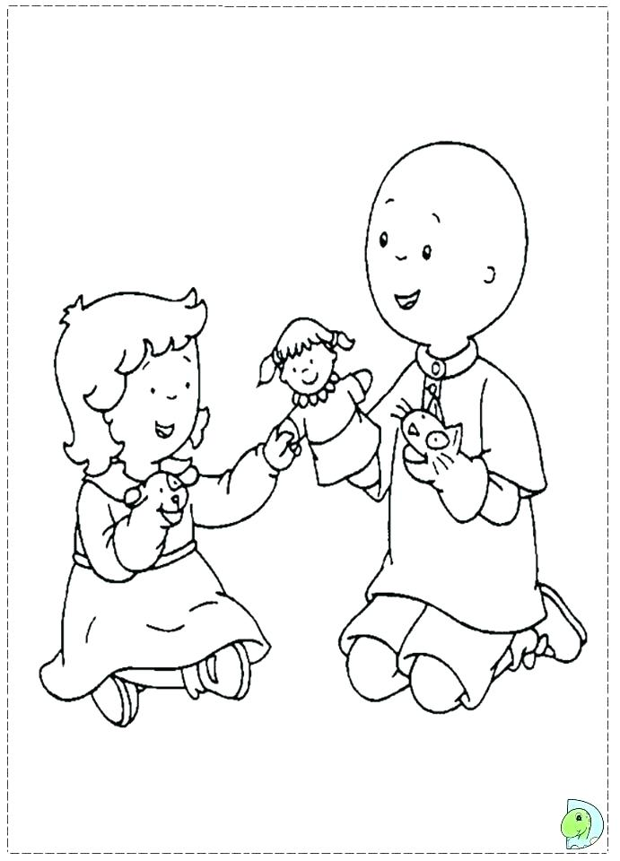691x960 Caillou Coloring Pages Coloring Pages Coloring Pages Online