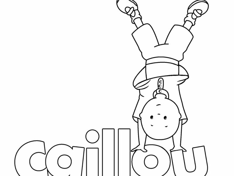 800x600 Caillou Coloring Pages Free Printable Caillou Coloring Pages