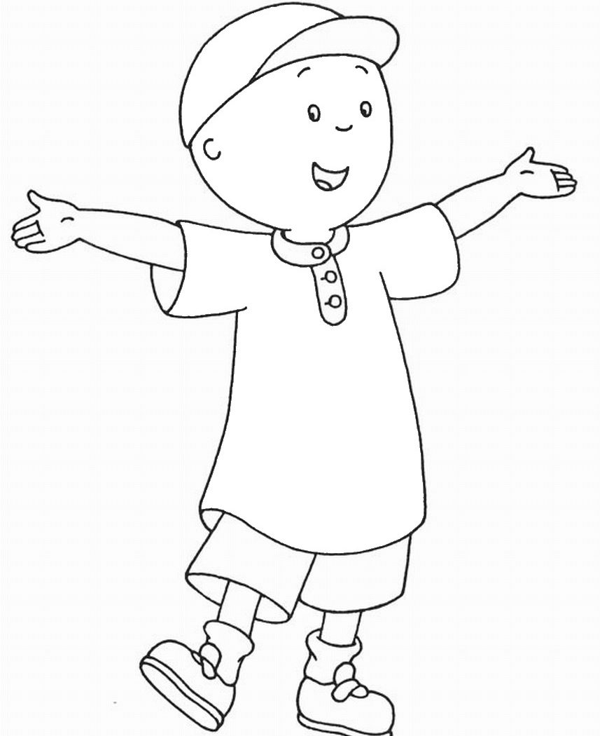 857x1050 Caillou Coloring Pages High Quality Cartoon Printable Images