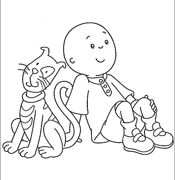 560x576 Free Caillou Coloring Sheets For Caillou Coloring Pages