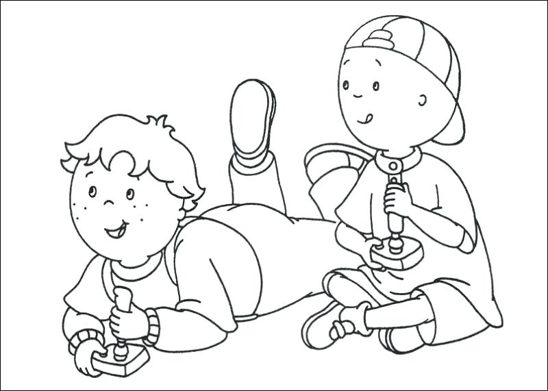 800x571 Caillou Coloring Page Coloring Pages Printable Free Caillou Color