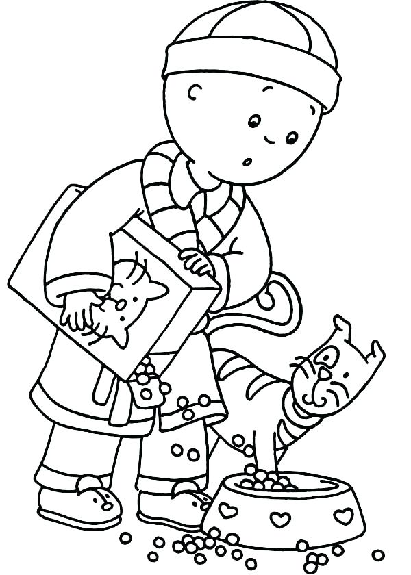 600x840 Caillou Coloring Page For Kids Printable Coloring Pages Coloring
