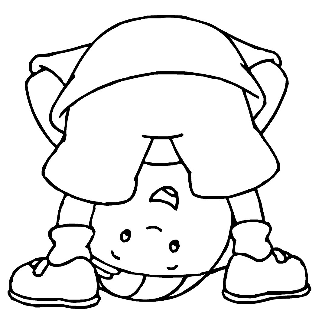 1055x1071 Caillou Coloring Pages