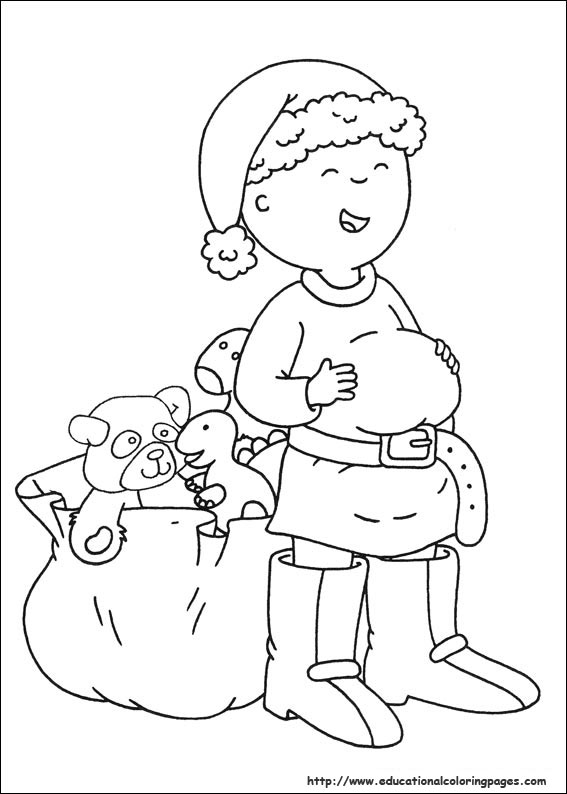 567x794 Caillou Coloring Pages
