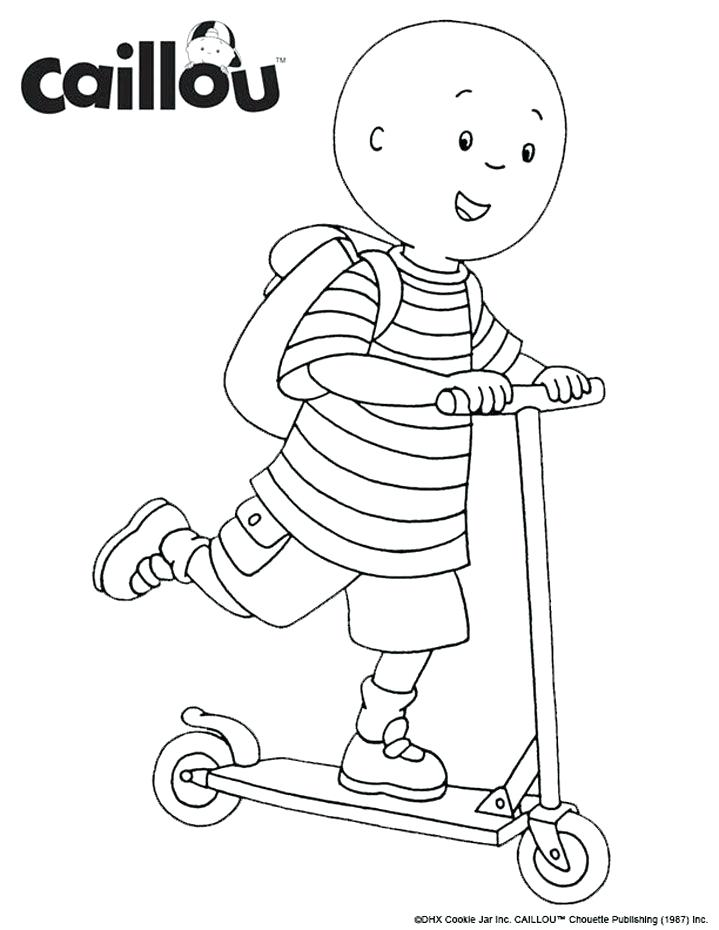 719x930 Caillou Coloring Pages Ready To Learn Coloring Sheet Caillou