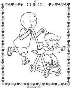236x291 Free Caillou Coloring Pages Caillou Caillou