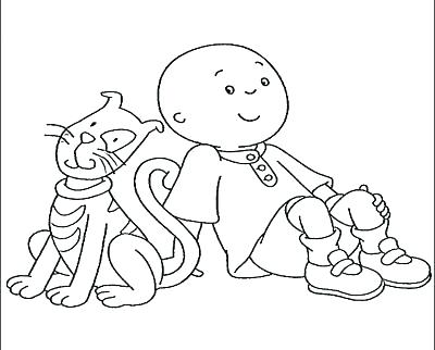 400x322 Caillou Coloring Pages Caillou Colouring Pages Print