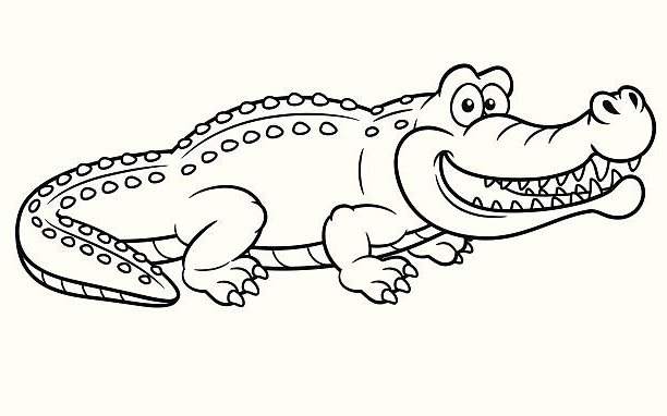 Caiman Coloring Page